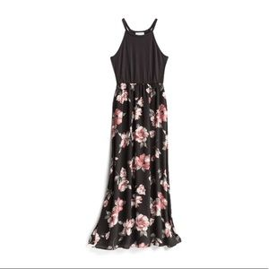 Black and floral maxi dress. Worn once.